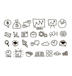 Set of icons for business vector image vector image
