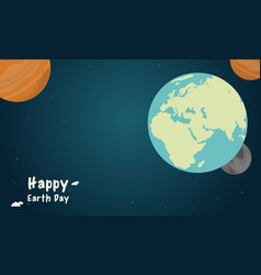 Space with world style earth day vector