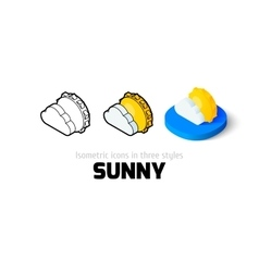 Sunny icon in different style vector image