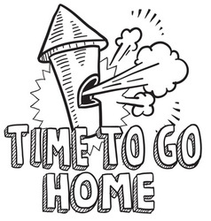 Time to go home vector image vector image