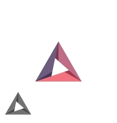 Triangle logo mockup tech shape geometric simple vector image vector image