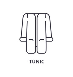 tunic line icon outline sign linear symbol vector image vector image