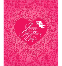Valentine card ornament 380 vector
