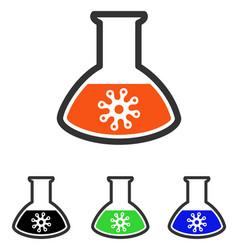 Virus analysis flat icon vector