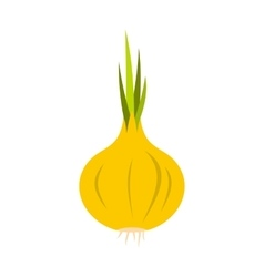 Onion icon in flat style vector