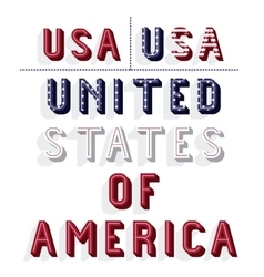 United states of america frame vector