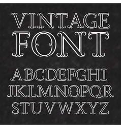 Vintage letters with flourishes vintage font in vector