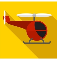 Helicopter flat icon vector