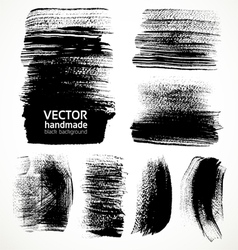 Textured brush strokes brush and ink vector