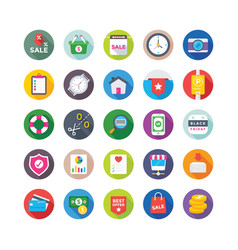 shopping and commerce icons 5 vector image