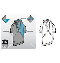 Tech sketch of a sweatshirt vector