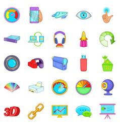 Technique icons set cartoon style vector