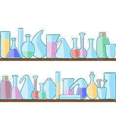 Seamless pattern laboratory glass vector image