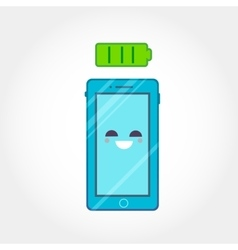 3d isometric mobile phone design in flat style vector