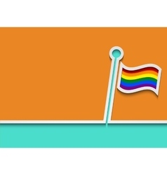 Modern lgbt flag background vector