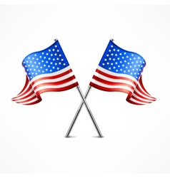 Two american flag vector