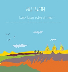 Autumn landscape countryside background vector