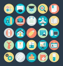 Education colored icons 4 vector