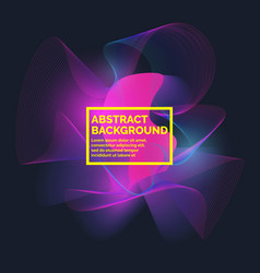 abstract background with a dynamic waves vector image vector image