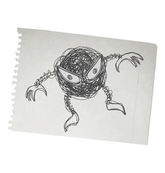 bad bug vector image vector image