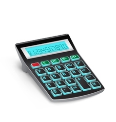 black calculator vector image vector image