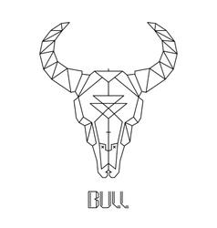Bull skull cow skull vector
