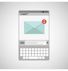 concept email social media icon vector image