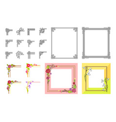 Decorative colorful frame collection on white vector
