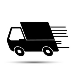 fast delivery truck vector image vector image