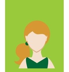 Female avatar or pictogram for social networks vector