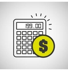 Financial calculator money economy icon vector