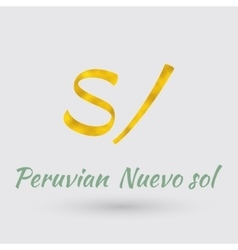 Golden symbol of the peruvian nuevo sol vector