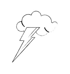 Idea concept cloud lightning sketch vector