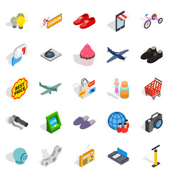 Internet marketing icons set isometric style vector