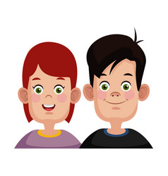 Kids friends cartoon vector