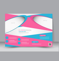 Landscape billboard flyer template vector