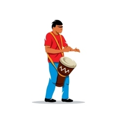 Man playing the Drum Brazilian music vector image vector image