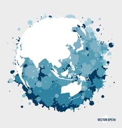 Modern blue globe vector image vector image