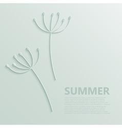 modern dandelions pattern background vector image vector image