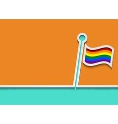 modern lgbt flag background vector image