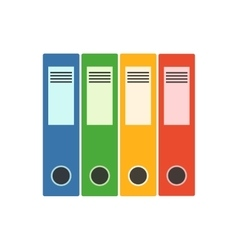 Office folder flat icon vector