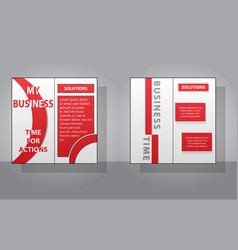 set of white business brochure and leaflet flyer vector image vector image