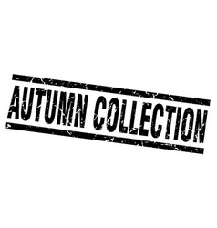 Square grunge black autumn collection stamp vector