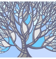 Stylized abstract winter tree vector image