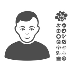 User Icon With Tools Bonus vector image vector image