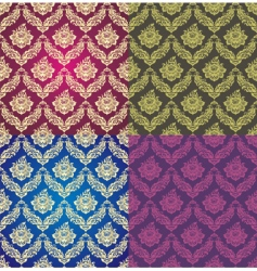 vegetative background set vector image vector image