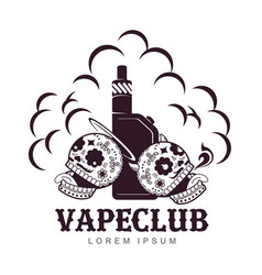 Vintage vape logo vector