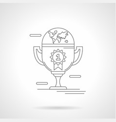 Winners cup detailed line vector