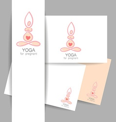 Yoga pregnant template vector
