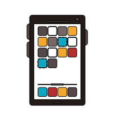 colorful graphic smartphone device icon with app vector image